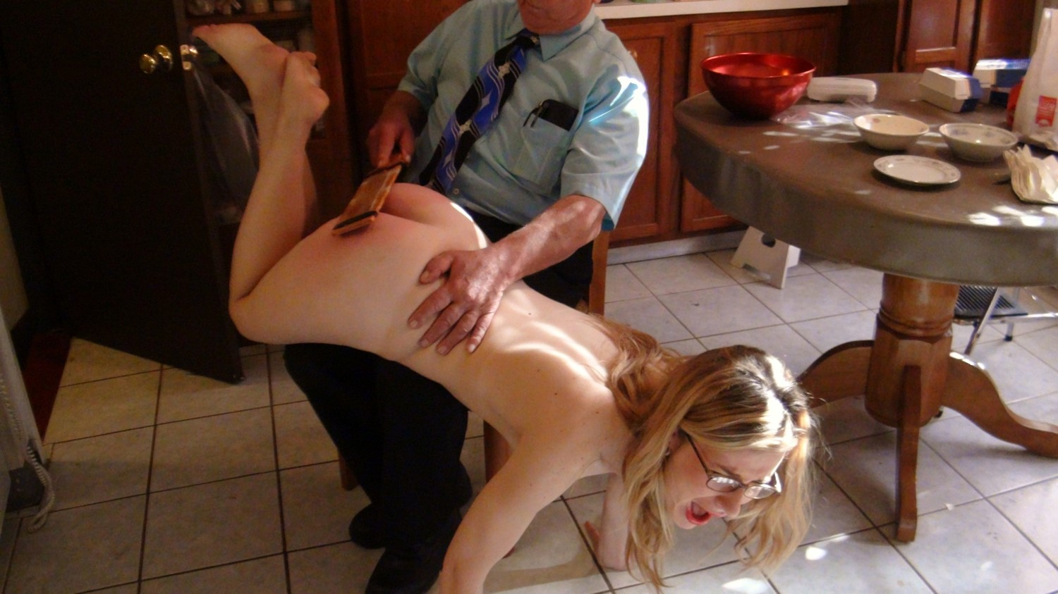 image Lesbian dinner and spanking party