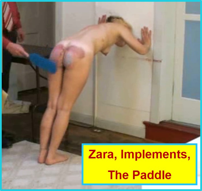 Punishment Paddle, Zara Spanked