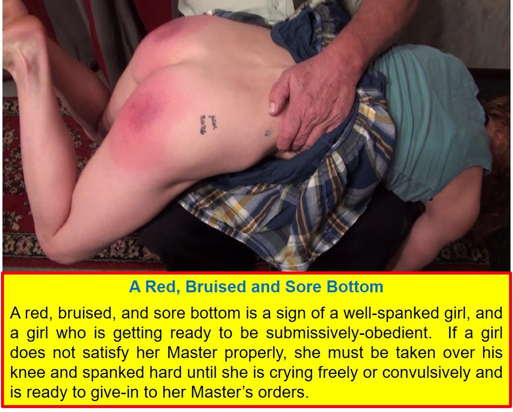 Bare bottom erotic spankings