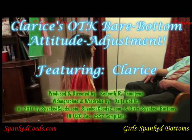 Clarice's OTK Bare-Bottom Attitude-Adjustment-0