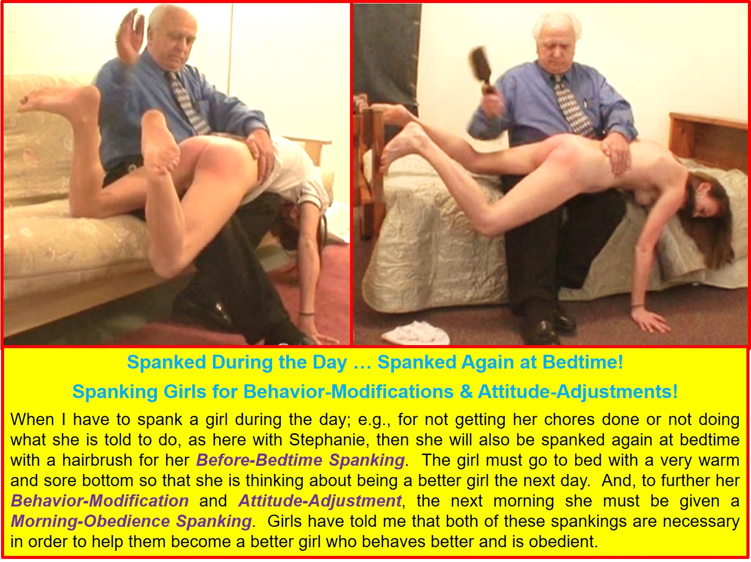 Behavior-Modification and Attitude-Adjustment Spankings