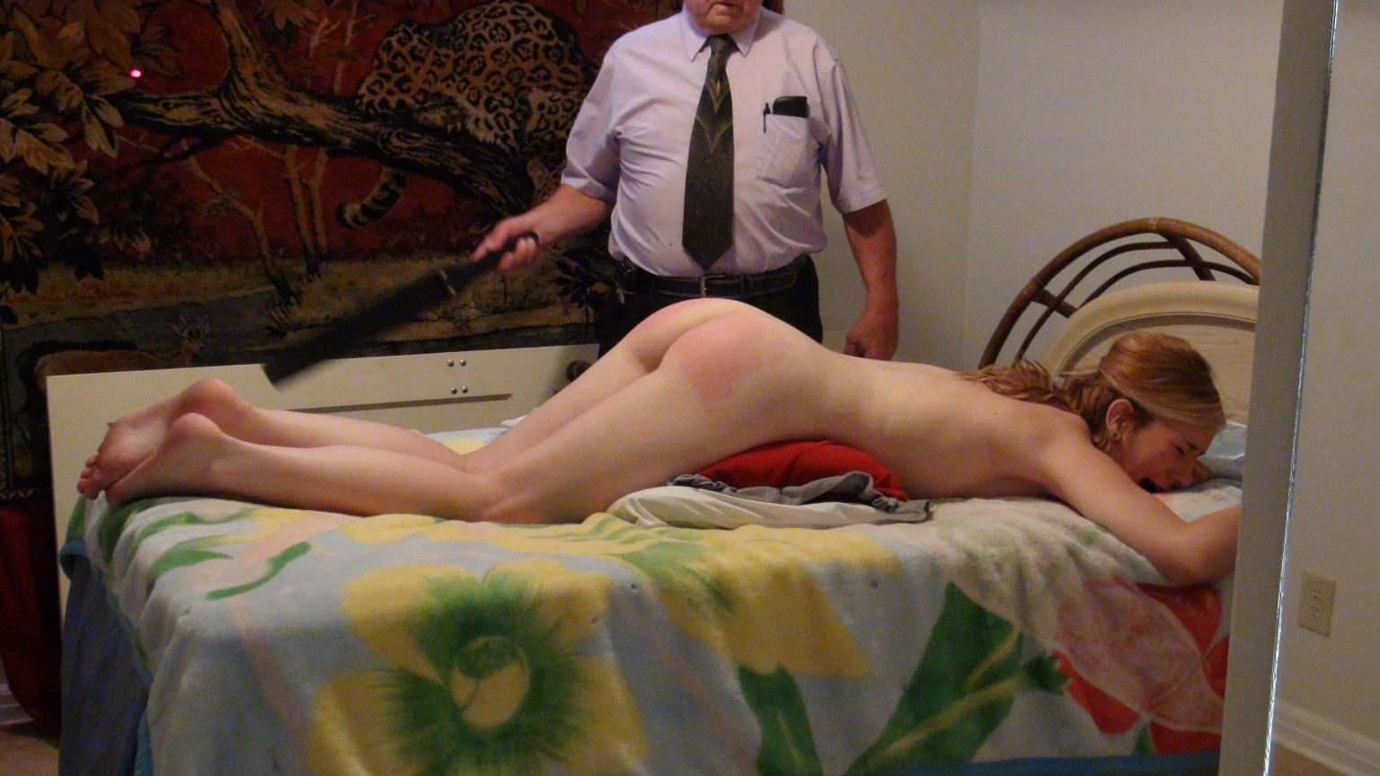 Housegirls spanked hard